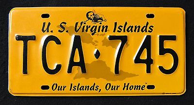 """US VIRGIN ISLANDS """" ST THOMAS """" OUR ISALND, OUR HOME USVI Graphic License Plate"""