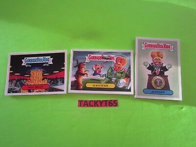 2017 Garbage Pail Kids Adam Geddon Alien Invasion Subset