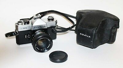 Fujica ST 701 35mm camera w/lens and case working