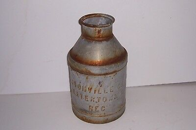 Vintage Authentic Metal Milk Can Lyndonville Dairy Watertown Mass