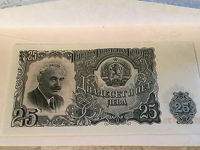 Exciting Bank Notes! U.S. & Around The World 1951 Bulgaria 25 Leva Uncirculated