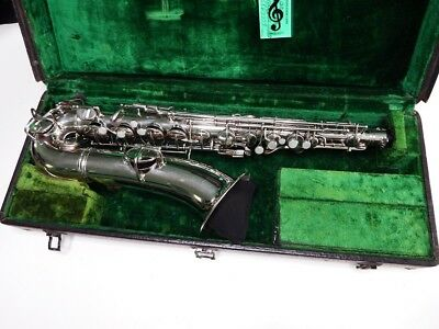 Conn Nickel Plated C Melody Saxophone #111474