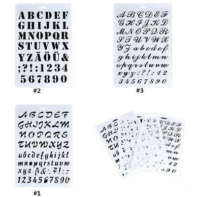 Letter Alphabet Number Scrapbooking Paper Cards Layering Stencils Painting FB