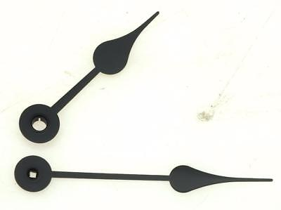 Hermle Mantel Clock Hands - Black Spade Hands - 80mm Hour & Minute Hand Clock