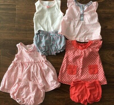 Baby Girl Clothing Lot Of 3 Sets By Carters Size 0-3 Months