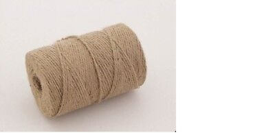 2 x 100m roll of Garden Jute Twine String Ball Roll Plant Tie Back Ties Line