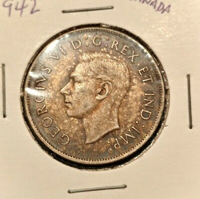 1942 Canada Silver Half Dollar 50 Cent Cents Canadian
