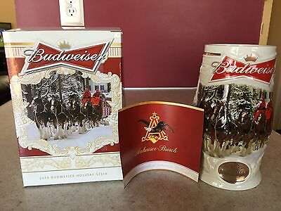 2014 Budweiser Holiday Stein - Holiday Lane (New in box w/ COA)