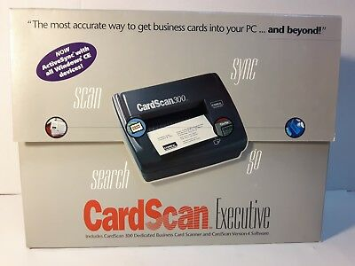 NEW Corex Technologies Corp Card Scan 300 Executive  Version 4 Software