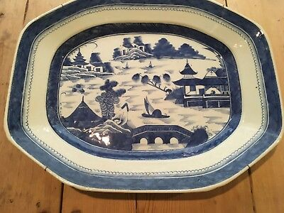 Huge Chinese Export 19th Century Canton Deep Platter #1