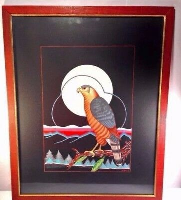 George Geionety Original Art Painting Comanche Eagle Native American