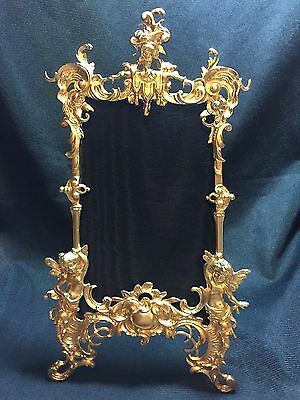 Gorgeous Antique Victorian Picture Frame With Cupids