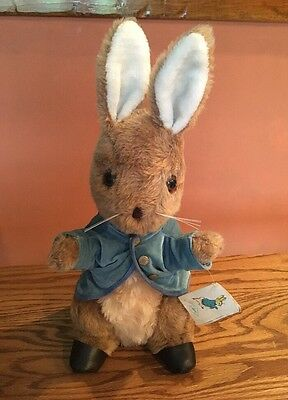 "Peter Rabbit Stuffed Animal Eden Toys Inc. size 15"" year 1982 Style 30455 w/tag"