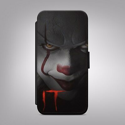 Inspired By Stephen King It Clown Scary Pennywise Flip Wallet Phone Case Cover