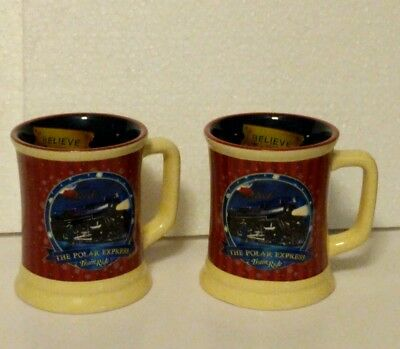 2 The Polar Express Mug Believe Train Ride Hot Chocolate Cups Pre Owned