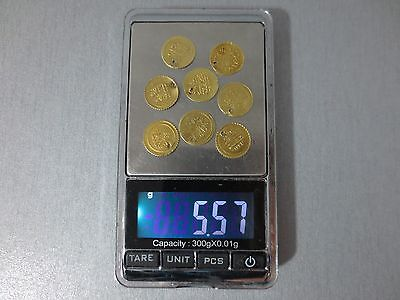 LOT of 8pcs. SMALL OTTOMAN GOLD TURKISH TURKEY ISLAMIC COINS VERY RARE 5.57gram