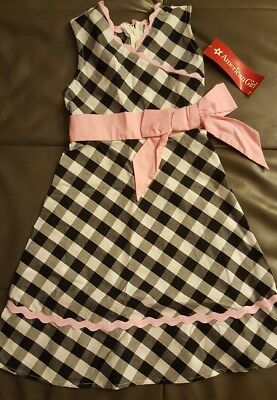NwT American Girl bitty baby Girl sz 5 Gingham party dress