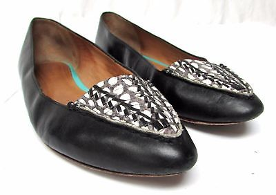 0945950add8 Women s Coach Felisha Black White Loafers Flats Shoes Size 10 Silver ...