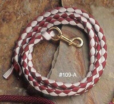 NEW BigD Braided Nylon Lead w/Snap - Many Colors!