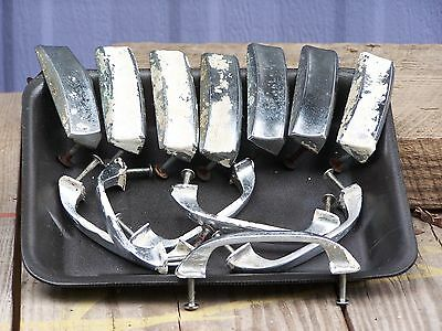13 Salvage Kitchen Bin+Drawer Pulls Shabby Steampunk Chrome+Stainless Steel