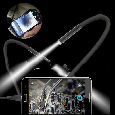 2M 7mm HD 1.3MP PC/Android Endoscope Borescope Video Camera Hard Cable
