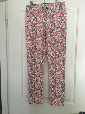 NWOT Girls Floral Jeans Size 16