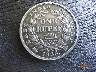 1835 India One Rupee 3/5 Date Error, First Find. -No Other Like It- Au++ Obo