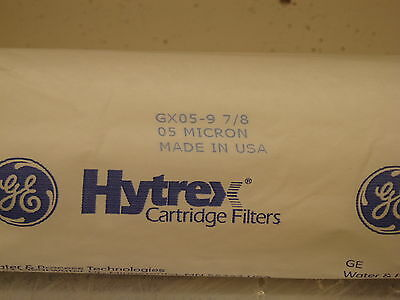 GE 05 Micron Hytrex Cartridge Filter GX05 - 97/8 New Sealed