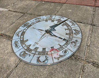 """Decorative Solid Bass Constellations Sundial - 12"""" inches wide - avp"""