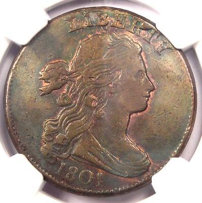 1801 Draped Bust Large Cent 1C 1/000 Variety - NGC XF Details (EF) - Rare Coin!