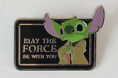 Disney World Pin Trading 2011 Stitch Star Wars Yoda May The Force be With you