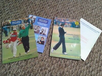 Golf Programmes The Open championships programmes 1985 and 1996
