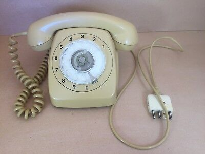 Vintage Rotary Phone Topaz Yellow PMG 801 1962 On Good Cond