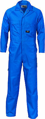 DNC Workwear 3102 Polyester Cotton Coverall Medium Blue Size 97R Brand New