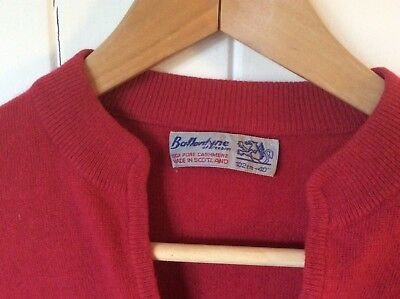 Vintage BALLANTYNE Rose Pink 100% Cashmere Sweater Made In Scotland Size M 10-12