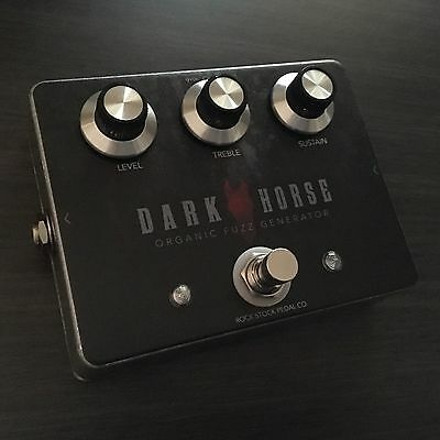 ROCK STOCK PEDALS - Dark Horse Fuzz Pedal for Guitar or Bass