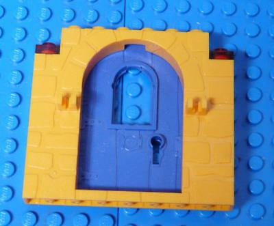 LEGO Door Frame 1 x 8 x 6 with Stone Pattern and Clips Orange Purple x1PC