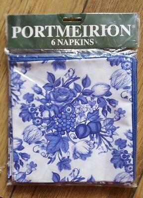 portmeirion harvest blue napkins pack of 6