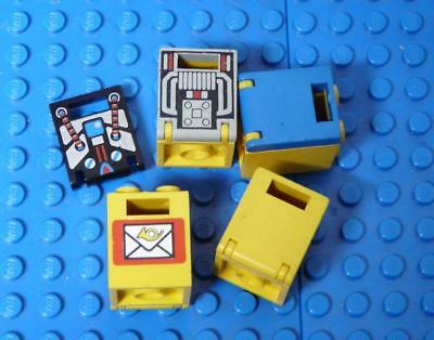 LEGO Container, Box 2 x 2 x 2 Assorted & door x5PC