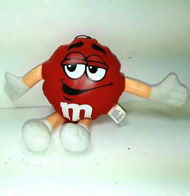M&M m&ms plush beanie soft toy doll Red m & ms Small