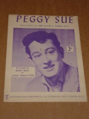 "Buddy Holly ""Peggy Sue"" sheet music"