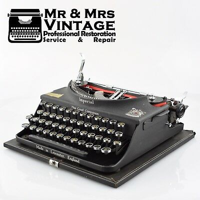 Vintage Imperial Good Companion 1 typewriter Matte Working Serviced Black Ribbon