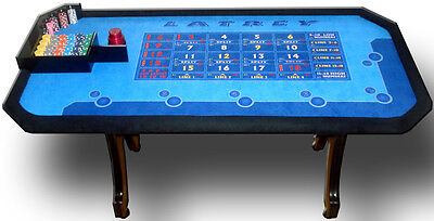 New 'LATREY' 3 Dice Professional Casino Table, Fully licensed