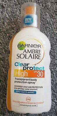 Garnier Ambre Solaire CLEAR Protect Spray SPF30 High 200ml Water Resistant