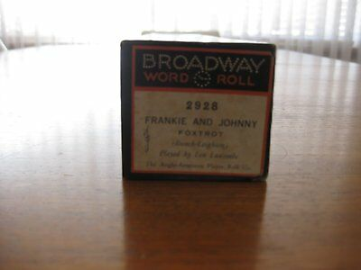 """Frankie and Johnny"" Broadway Pianola Roll"