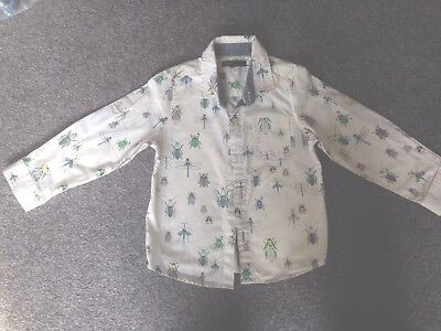 M&S Boys Long Sleeve Shirt Age 3-4yrs