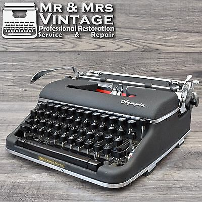 Vintage Scientific Olympia SM4 Typewriter Working Black Ribbon SM3 Upgrade rare