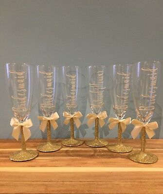 Personalised Champagne Flutes Wedding