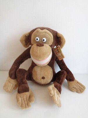"MADAGASCAR - 17"" MONKEY SOFT TOY by RUSS BERRIE - WITH TAG"
