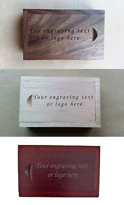 Personalised Wooden (Walnut/Maple/Red) Laser engraved 16GB USB Stick  with box